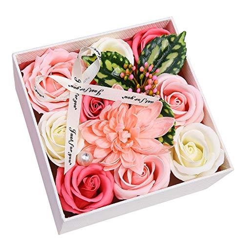 Kolylong® Künstliche Blumen Künstliche Rosen 9 Stück Rosen Schauend Rose Blume Seife für DIY Hochzeit Blumensträuße Party Zuhause Dekorationen Romantisches Geschenk für Freundin und Mutter