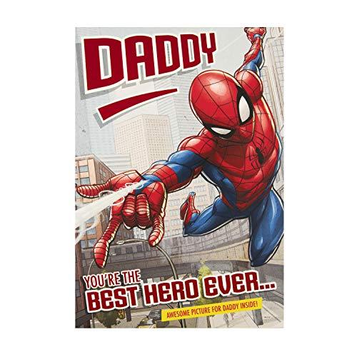 Hallmark Geburtstagskarte für Papa mit Marvel's Spider-Man Design