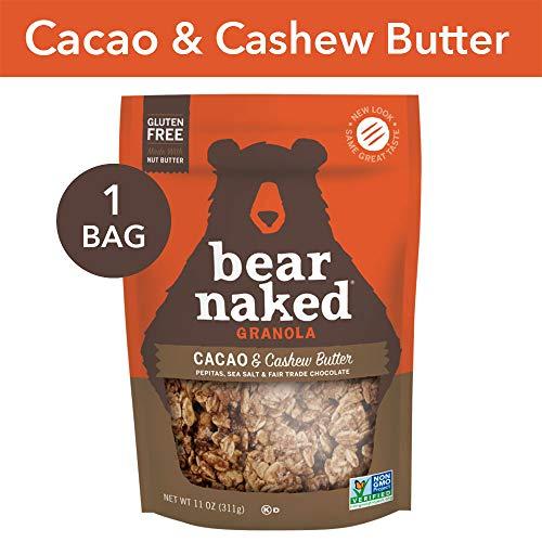 Bear Naked Cacao & Cashew Butter Granola - Gluten Free | Non-GMO | Kosher | 11 Oz