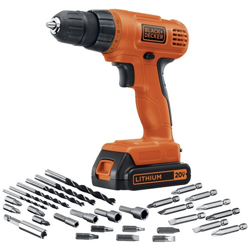 BLACK+DECKER 20V MAX Cordless Drill / Driver with 30-Piece Accessories...