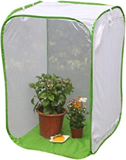 Apostasi Foldable Insect Butterfly Habitat, Giant Collapsible Insect Mesh Cage Terrarium Pop-up Cage Seedling Plant Light ...