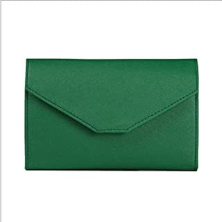 YXHM AU Women's PU Travel Multi-Function Passport Bag for Men and Women Tri-fold ID Folder Ultra-Thin Passport Wallet (Color : Green)