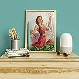 Gil Elvgren Pin retro sexy mujer impresiones y carteles lienzo arte de la pared imágenes familia pinturas en lienzo sin marco Q-1 60x80cm
