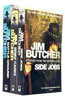 Jim Butcher Dresden Files Series 4 Collection 3 Books Set  Side Jobs Brief Cases Battle Ground
