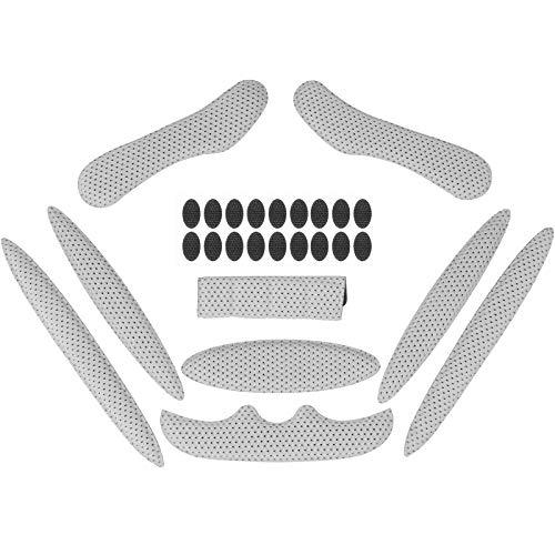 Himetsuya Helmpolster-Set für Fahrrad 1Satz, Universal-Schaumstoff-Pads für Airsoft Helm, Eva-Polster für Fahrrad, Motorrad und Radhelm grau