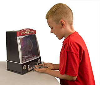 Think Stores Miniature Arcade Coin Pusher with Flashing Lights and Tilt Alarm
