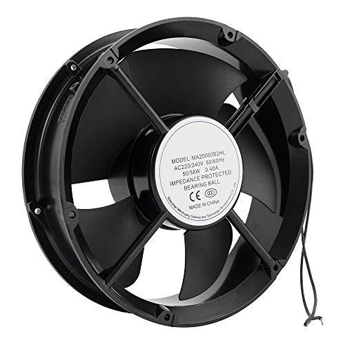 Hon&Guan Ventilador Axial AC Metal para Refrigeración de Escape de Ventilación Axial Fan 220 * 60mm