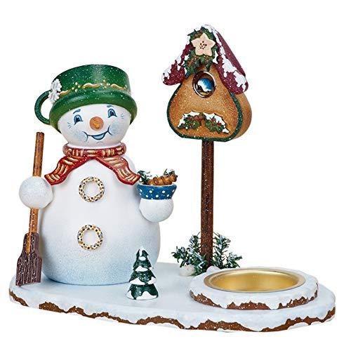 Hubrig Neuheit 2013 - Räucherwichtel Schneemannwichtel mit Teelicht, 16cm x 15cm, Erzgebirge
