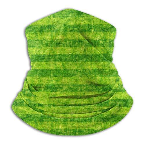 ASDTF Braga de forro polar para el cuello con diseño de rayas, color verde