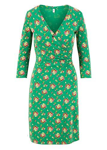 Blutsgeschwister Damen Kleid pfadfinderehrenwort Dress Midi-Kleid Allover- Druck Grün L