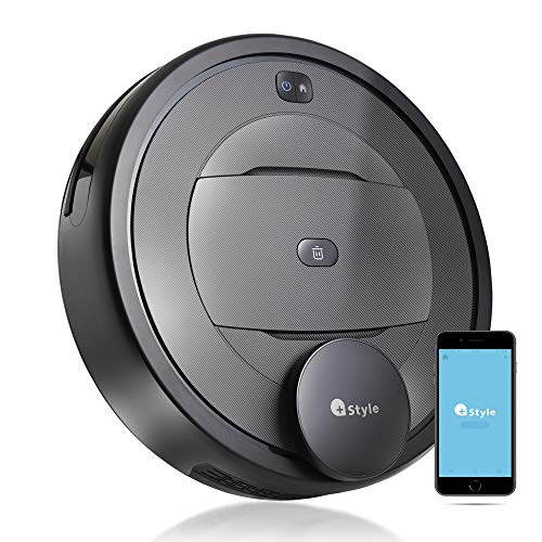 【+Style ORIGINAL】スマートロボット掃除機 G300 高精度ルームマッピング機能 Wi-Fi接続 水拭き フローリング カーペット 対応 日本メーカー製 小型 Amazon Alexa/Google Home 対応