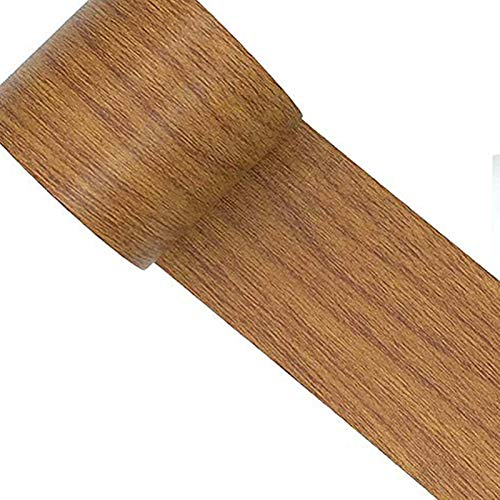 Reparatur-Klebeband, Holztapete, selbstklebende Folie, Holzkontaktpapier, Holz-Tapete zum Abziehen und Aufkleben, abnehmbares Klebeband für Zuhause, Tür, Boden, Tisch und Stühle, 5,7 cm x 5 m braun