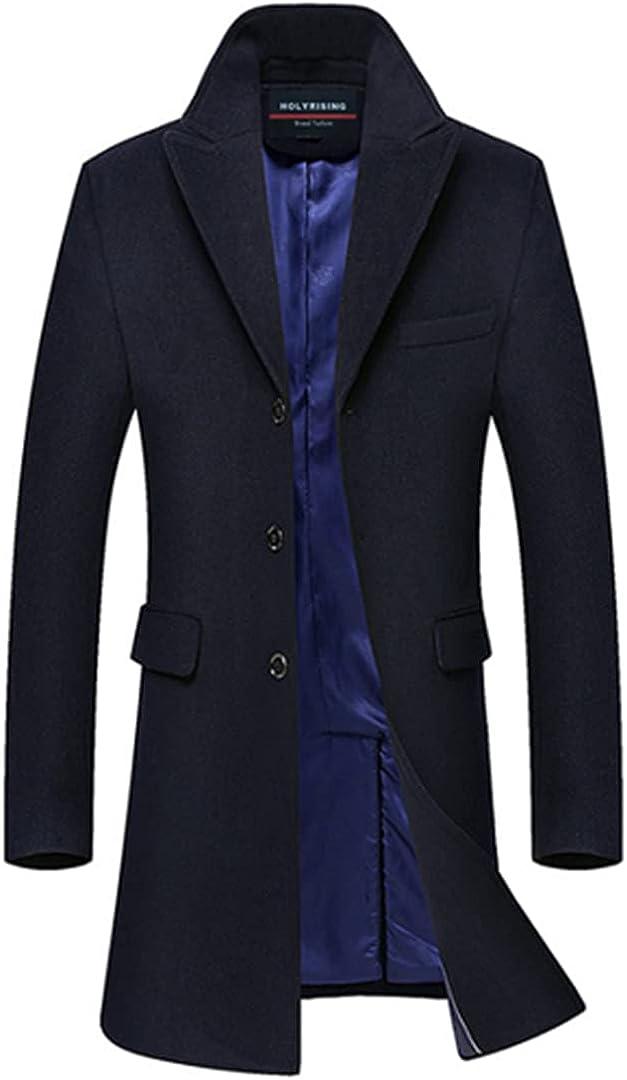 Men Coat Wool Casaco Overcoat Warm Coats For Men Single Breasted Coat