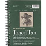 Strathmore Tan Drawing 400 Series Toned Sketch Pad, 5.5'x8.5', 50 Sheets