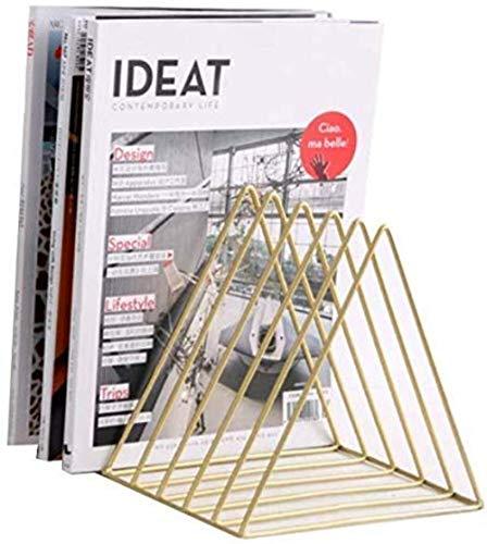 LIUYULONG Armoire de rangement pour dossiers, magazines, bureau, étagère de bureau de style minimaliste et moderne, couleur or