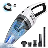 Handheld Cordless Vacuum Cleaner, BOLWEO DC 12V Portable Car Vacuum Cleaner for Car and Home, with Strong Suction High Power, Hand Vacuum, Lightweight for Wet Dry Use
