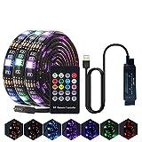 WINBST Striscia LED non impermeabile 5 m 30 LED RGB Sync per la musica e l'illuminazione dinamica, Smart LED Strip fai da te flessibile per sfondo TV con controllo remoto