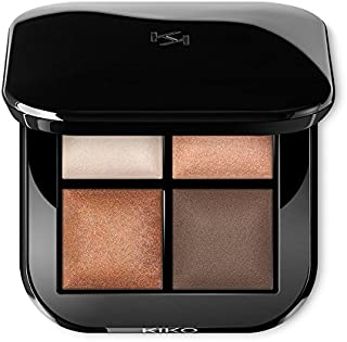 KIKO MILANO - Bright Quartet Baked Eyeshadow Palette with four baked eyeshadows for wet and dry use (Warm Natural)