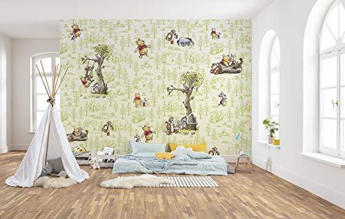 Komar Vlies Fototapete Winnie Pooh Friends | Größe: 300 x 280 cm (Breite x Höhe), Bahnbreite 50 cm | Tapete, Wandbild, Dekoration, Wandbelag, Kinderzimmer, Schlafzimmer | DX6-031, bunt