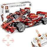 MAZOZ Technik Bausteine Auto Formel FRR-F1 Fennwagen, 585Teile 1:10 2.4G 4CH Racing Auto mit Motoren Bausteine Konstruktionsspielzeug Kompatibel mit Lego Technic