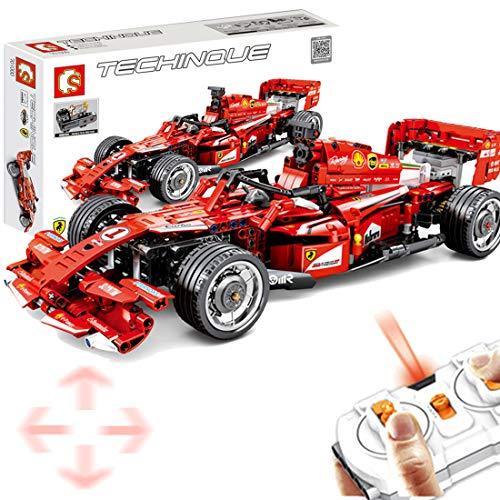 Macium Technik Bausteine Racing Auto für Formel 1 FRR-F1, 585Teile 2.4GH Ferngesteuerter Sportwagen mit Motoren Bausteine Konstruktionsspielzeug Kompatibel mit Lego Technic