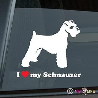 I Love My Schnauzer Sticker Vinyl Auto Window