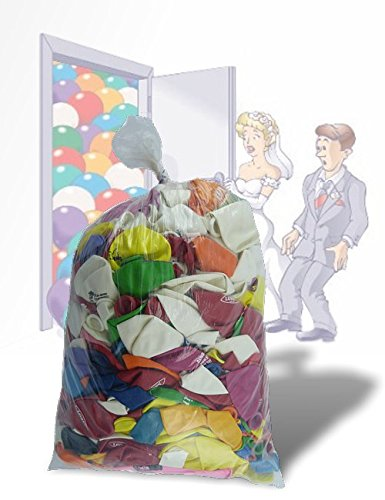500 Raumbefüllungsballons ca. 2 kg , meistens mittlere Ballons ø25-40 cm Fehldruck
