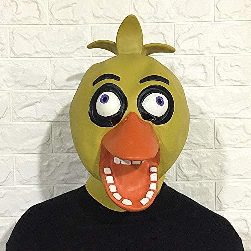 TLWR Máscara Halloween Máscara de Patito Feo Capucha Lindo Tocado de látex Disfraces Accesorios Divertidos para Halloween Masquerade Cosplay Party