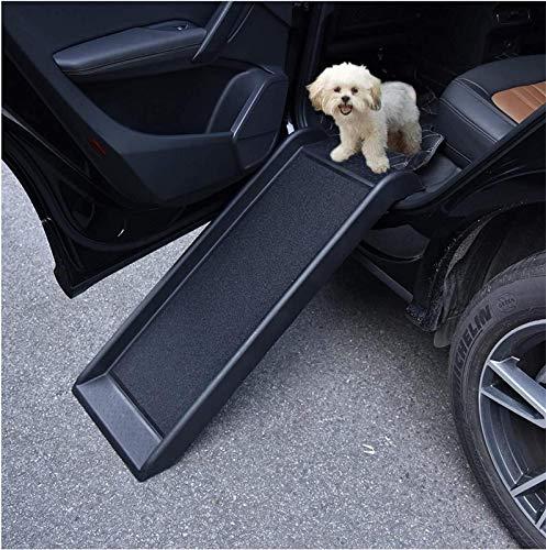 DRXX Hunderampe Haustierauto-Rampe, Tragbarer Leichter Hund Und Katzenrampe Slideway Für Alle Artenhund Behinderten Hunde, Unterstützt Bis Zu 200 Lbs, rutschfeste Oberfläche, 40 \'\' Lx15 \'\' W, Schwarz