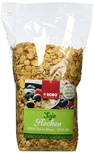 SOBO Soja-Flocken, 6er Pack (6 x 500 g)