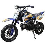 X-PRO 70cc Dirt Bike Pit Bike Kids Dirt Pit Bike 70cc Child Dirt Bike Dirt Pitbike (Blue)