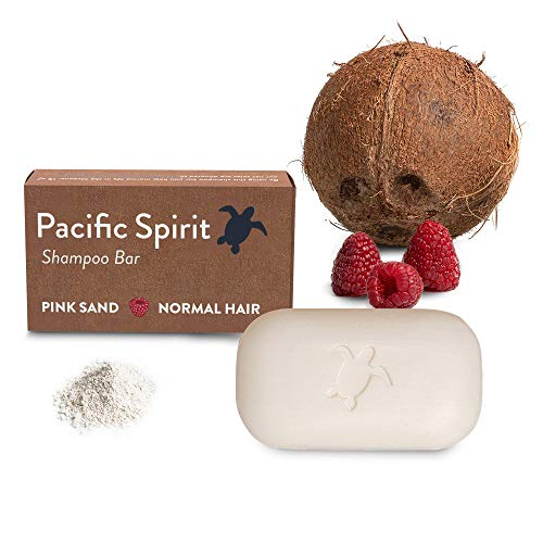 Shampoo Bar for Normal hair with Coconut & Raspberry. Natural citrus scent . Thick foam for a perfect cleaning. Sulfate-Free, Soap-Free, Vegan, Zero Waste by Pacific Spirit - 3.53 Oz.