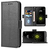 Phone Case for LG G5 Folio Flip Wallet Case,PU Leather Credit Card Holder Slots Full Body Protection Kickstand Hard Hybrid Protective Phone Cover for LGG5 SE LG5 G 5 5G Cases Women Men Black