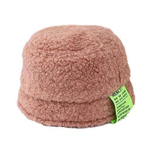QFWN Sombrero estándar de algodón de Invierno de Invierno Sombrero de Cuenca Caliente Sombrero de Pescador (Color : Pink, Size : 48 51CM)