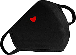 Fashion Cotton Face Protection Unisex Washable Reusable with Cute Heart Pattern