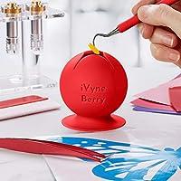 iVyne Berry - 吸盤付きビニール製雑草スクラップコレクター(柿レッド)