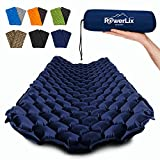 POWERLIX Sleeping Pad - Ultralight Inflatable Sleeping Mat, Ultimate for Camping, Backpacking, Hiking - Airpad, Inflating Bag, Carry Bag, Repair Kit - Compact & Lightweight Air Mattress (Navy Blue)