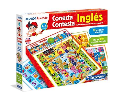 Clementoni-65381 - Conecta-Contesta Inglés - juego educativo electrónico a partir de 5 años