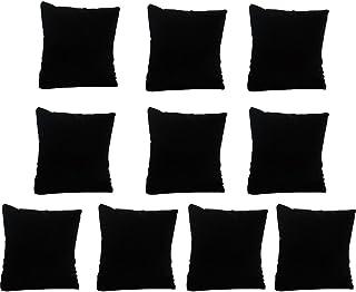 Wyi Muestras de terciopelo negro, 20 unidades de almohada de terciopelo para exhibición de joyas, para reloj de pulsera, cojín de terciopelo pequeño (7,5 x 9,5 cm)