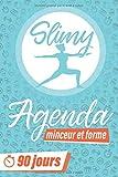 Slimy: Agenda Minceur et Forme: 90 Jours régime alimentaire | Votre compagnon pour un meilleur corps | Cahier à compléter | Français (Bleu)