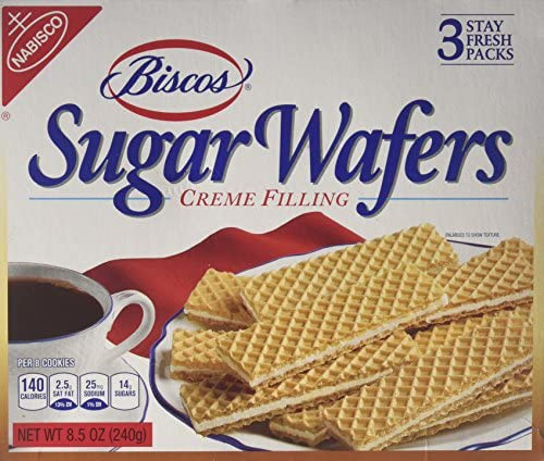 Nabisco Biscos Sugar Wafers 3 Stay Fresh Packs 8 5 Ounce Box product image