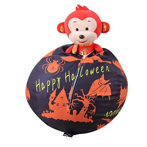 kingko® Halloween Kürbis Kinder Stofftier Spielzeug Lagerung Sitzsack Multi Purpose Travel Wäscherei Aufbewahrungstasche Organizer für Handtaschen–Handtaschenorganizer (Schwarz)