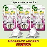 Air Wick Diffusore Elettrico Con Oli Essenziali - 1 Kit: 2 Gadget + 6 Ricariche - 110 Gr