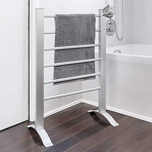 4030 Estante eléctrico de toallas y calentador de toallas Estante para montaje en pared o independiente 6 costillas de calefacción ALU