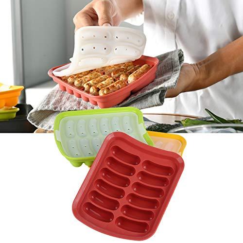 Molde para perros calientes, 3 piezas/juego de moldes de silicona, antiadherente de grado alimenticio térmico para restaurante, accesorio de cocina, hogar, 17,5 x 14 x 3,5 cm