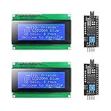 KYYKA Módulo de pantalla LCD 20 x 4 2004 con adaptador de interfaz Serial IIC/I2C/TWI para Arduino para Mega 2560 (azul/2004)