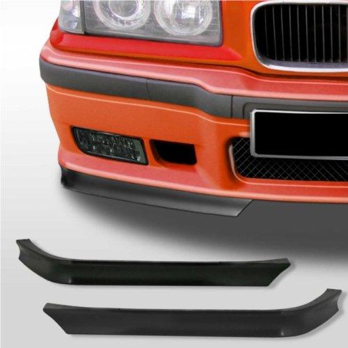 KMH SEBE36 - Labios de alerón de Esquina para Parachoques Delantero, de Apariencia Deportiva, Adecuado para BMW Series E36.