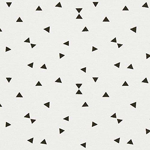 Dekostoff Ottoman Dreiecke 3 – weiss — Meterware ab 0,5m — STANDARD 100 by OEKO-TEX® Produktklasse I — zum Nähen von Kissen/Tagesdecken, Gardinen & Sitzgelegenheit