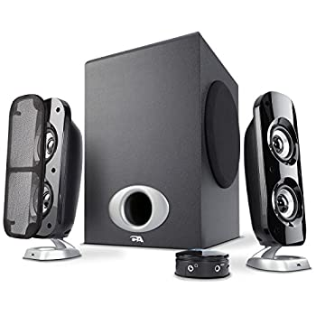 Cyber Acoustics High Power 2.1 Subwoofer Speaker System with 80W of Power – Perfect for Gaming Movies Music and Multimedia Sound Solutions  CA-3810