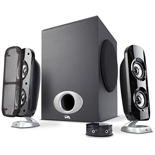 Cyber Acoustics High Power 2.1 Subwoofer Speaker System with 80W of Power – Perfect for Gaming, Movies, Music, and Multimedia Sound Solutions (CA-3810)